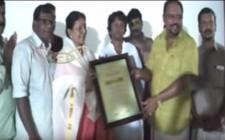 Honouring Film Actrees Sharadha