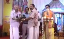 Dr T A Sundar Menon felicitated by Temple Advisory Board Chairman T S Pattabiraman