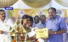 Dr Sundar Menon Distributing Educational Scholarship by by Samastha Nair Samajam