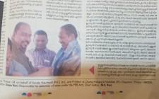 Dr Sundar Menon Felicitating The New Cochin Devaswom President K M Sudheeshan