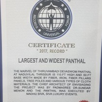The Nadivulal Panthal Project Planned By Dr Sundar Menon Received The IRF World Record For The Largest And Widest Panthal